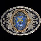 Shriner Mason Masonic Freemason Fraternal Western 1980s NOS Vintage Belt Buckle