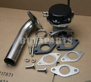 Black 35/38mm Turbo Manifold Exhaust External Wastegate 14 PSI Spring +Dump Pipe