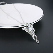 Lord of the Rings Arwen Evenstar Sliver Plated Necklace With Gift Box