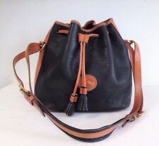 DOONEY & BOURKE Leather Navy-Tan Bucket Bag USA
