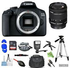Canon EOS Rebel T7/2000D DSLR Camera w/ EF-S 18-55mm IS STM Lens & 32GB Bundle
