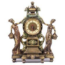 Victorian Style Home Decor Clock Statue Figurines for Office w/ Bronze Finish