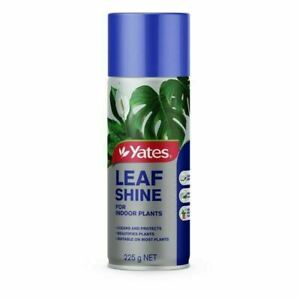 Yates Leaf Shine Aerosol Insecticide Protects and Beautifies Indoor Plants 225g