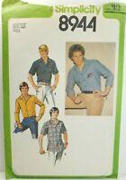 Simplicity 8944 Men's Button Down Shirt, Sz 42 VTG 1979 CUT & COMPLETE OOP