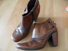 GINO VAELLO coole Stiefeletten Ankle Boots Vintage Stil cognac Gr. 37 TOP ZC316