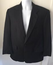 BROOKS  BROTHERS  BROOKSEASE  CHARCOAL WOOL PINSTRIPE FLAT FRONT MENS  SUIT 42R