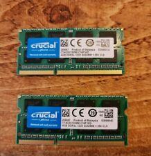 Crucial 8 GB DDR3-1333 Mhz SODIMM 204-pin RAM Modules 2x 4gb iMac upgrade