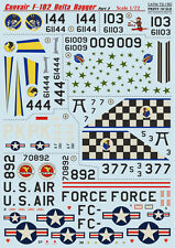 Print Scale 72-150 Decal for Convair F-102 Delta Dagger Part 2 1/72 scale