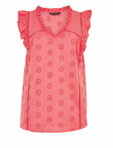 NEW RRP £18.50 Ex Marks and Spencer Collection Pink Floral Top