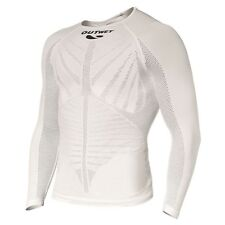 EP3 Cycling Long Sleeve BASE LAYER in White. Made in Italy by Outwet