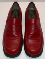 Tommy Hilfiger Women's Red Leather Slip On Shoe Size 8 M