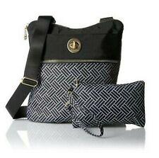 Baggallini Hanover Gold Hardware Nylon Crossbody Bag W/ Wrislet in Basket