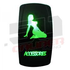 Rocker Switch Stripper Accessories Marine Ski Wakeboard Bass Pontoon Boat Green
