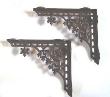 2 Shelf Rack Consoles Cast Iron Antique Style Wall NEW
