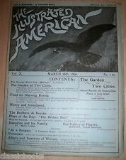 Illustrated American Magazine 1892 March 26th MUSEUM FILED FN