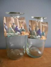 2 - 1995 Lindermann Design Ideas Galleon Bottles Hold Standard Taper Candle Nwt