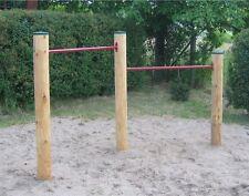 Turnreck Doppelreck Turnstange Reckstange Lärche Holz komplett LoggyLand GYM II