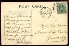 Islas del Canal Jersey 1904 PPC uso local de Guernsey Fino Millbrook Receptor