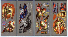 IRON MAN 3 wall stickers 24 FOIL decals Marvel superhero IRONMAN mylar Avengers