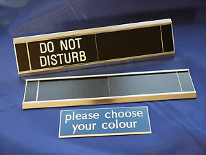 Sliding Signs - Do Not Disturb - Entry Control System