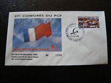 FRANCE - enveloppe 21/12/1990 27e congres du PCF (cy7) french (O)