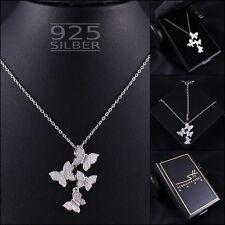 Schmetterling Halskette 925 Sterling Silber Damen ❤ SWAROVSKI ELEMENTS ❤ im ETUI