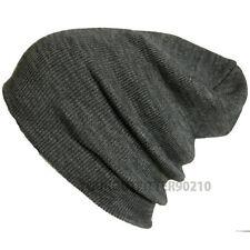 440b339233d34 Men Women Plain Solid Beanie Cap Knit Ski Hiking Hunting Unisex Winter Warm  Hat