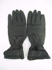 Olympia top grade black leather cowhide motorcycle gloves small