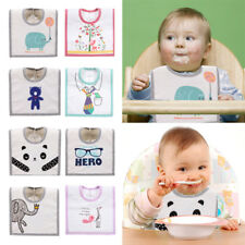 Newborn Baby Waterproof Feeding Apron Kids Bibs Saliva Towel Burp Cloth Bandana
