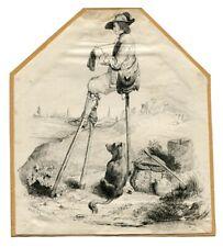 Berger landais -  Eugène LE POITTEVIN (1806-1870) D'ap.-  Dessin ancien