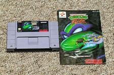 New ListingTmnt Ninja Turtles Tournament Fighters Super Nintendo Snes With Manual 1993