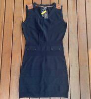New Zendra El Corte Inglés Size M EU42 Black Dress BodyCon Sleeveless Stretch