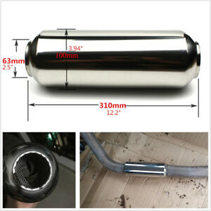 High Performance Stainless Steel 63mm 310mm Length Car Middle Muffler Silencer*1