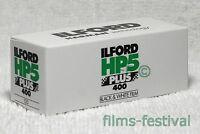 5 rolls ILFORD HP5 Plus 400 B&W Film 120 Medium Format