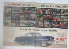 Original Print Ad 1953 MERCURY 2 Page Auto MONTERAY Vintage Photos