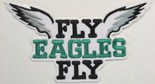 """Philadelphia Eagles """"Fly Eagles Fly"""" Large~Iron On Logo Patch~Free Shipping~"""