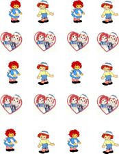 Raggedy Ann & ANdy Waterslide Nail Decals/Nail art