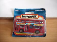 Matchbox London Bus in Red on blister