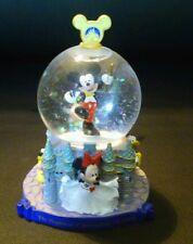 "Vintage MINT Mickey Mouse Parade Minnie Donald Duck Pluto 3.50"" Mini Snow globe"