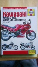 HAYNES  MANUAL KAWASAKI 454LTD/LTD450  VULCAN 500 & NINJA 250 1985 TO 07