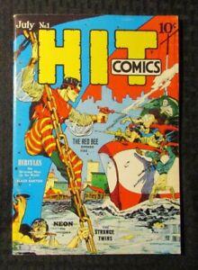 1970's FLASHBACK #31 FN 6.0 Reprint Hit Comics #1 Red Bee Hercules Neon
