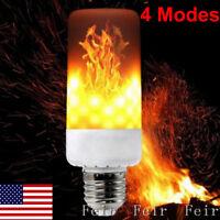 4 Modes E27 LED Flame Effect Fire Light Bulb Flicker Flame Lamp Christmas Decor