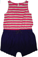 Baby Gap NWT Pink White Striped Blue Tank Shorts Romper 0-3 Months $27