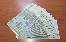 Zimbabwe 5 PIECES 50 Trillion Dollars 2008 Seria AA UNC e89
