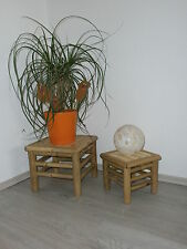 Bamboo stools, planting stools, side tables, set of 2