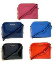 Michael Kors Cindy Dome PVC Leather Crossbody Bag Mirror Metallic