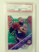 2019 Panini LeBron James Will to Win Green Mosaic #7 PSA 9 Mint 49481650 Lakers