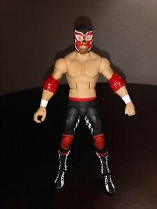 """GENÉRICO"". ROH, WWE CUSTOM FIGURE ELITE/MATTEL IN BLACK AND RED."