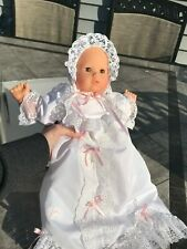 """vintage 15"""" Baby Christening Doll by Gotz gown gift Charley made in West Germany"""