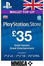 PSN Playstation Network Card Key 35£ - PS3 PSP - UK